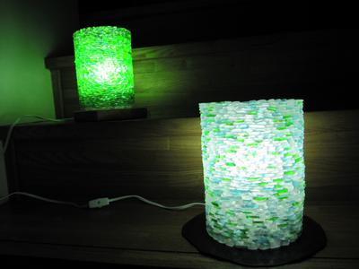 Sea Glass Lamp Shade Japan 3