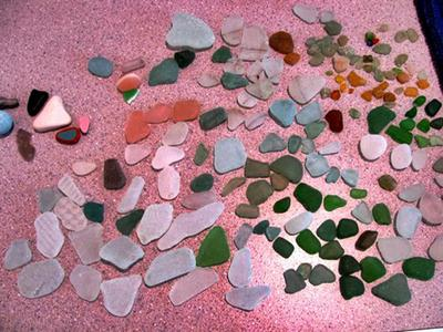 More Sea Glass from Nova Icaria Beach