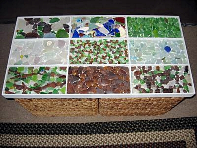 Sea Glass Table Top