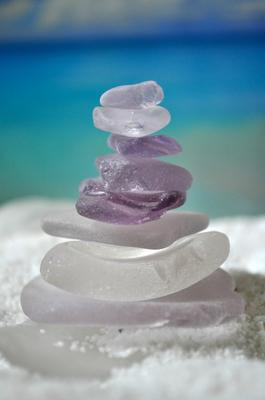 Purple Sea Glass Tower - July 2012 Sea Glass Photo Contest