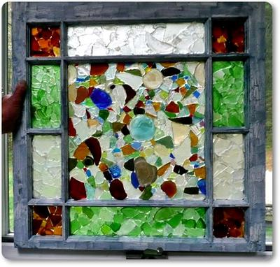 Mona's Sea Glass Window Panes