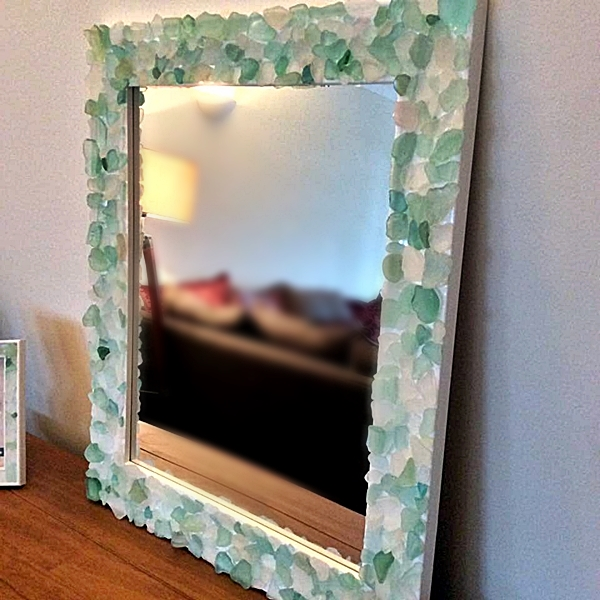 Sea glass diy projects frame and vase diy sea glass frame solutioingenieria Image collections