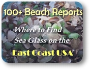 East Coast USA beach glass reports