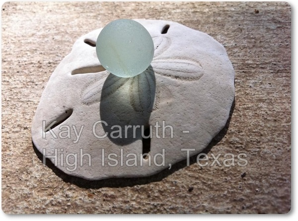 High Island, Texas, Sea Glass Marble