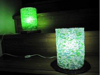 Mosaic Sea Glass Lamp Shade