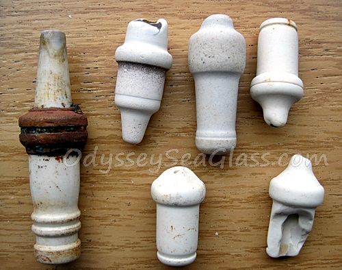 Sea Glass or Beach Glass Spark Plugs