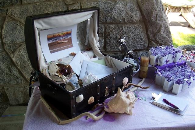 Sea Glass Wedding Treasure Chest