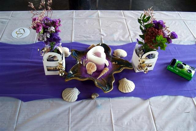 The Sea Glass Theme Table Decor