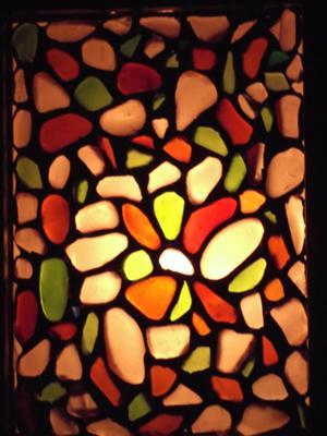 Seaglass Lobster Mosaic detail