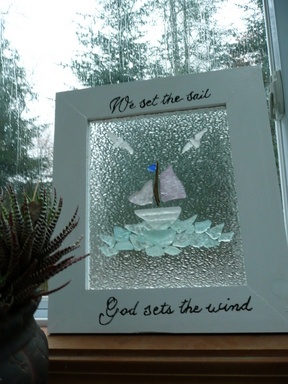 My seaglass sailboat