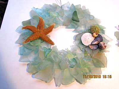My Seaglass Wreath