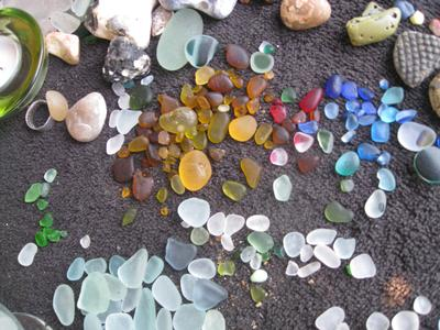 Sample of Seaham area sea glass by Deana Cross