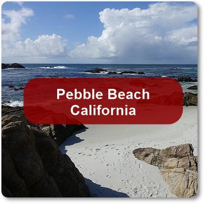 Pebble Beach, California on the Monterey Peninsula