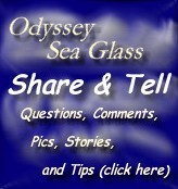 Sea glass questions, comments, tips