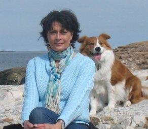 Sea Glass Girl and dog