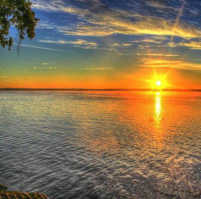 Sunrise Lake Michigan, Wisconsin USA