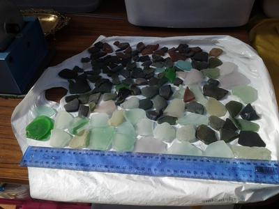 This was some of my first sea glass finds in Tasmania