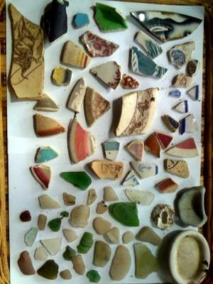 San Francisco Bay - Crockery shards & beach glass