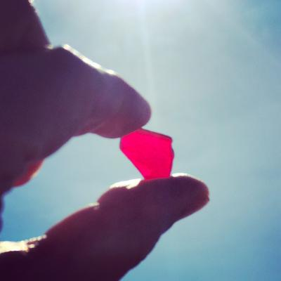 The Red Ruby - October 2017 Sea Glass Photo Contest