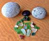 Sea Glass found at Pacific Beach, San Diego, CA, USA