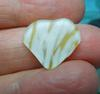 Yellow Art Glass Heart