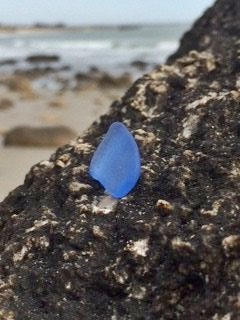 True Blue Sea Glass