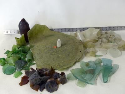 Two Hours of Beach Glass Found