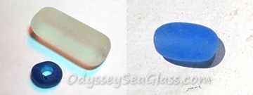 Sea Glass Beads - Beautiful and quite rare from from the Black Sea, Ukraine, Eastern Europe. From Lin's Collection
