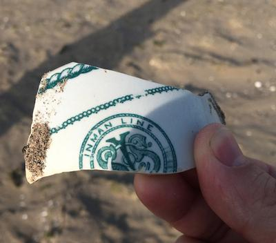 Unexpected sea pottery find