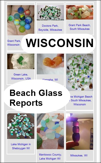Wisconsin Beach Glass Reports