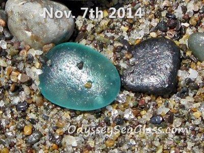 Blue teal perfect sea glass
