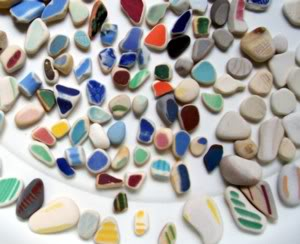Beach Pottery - State of Washington USA