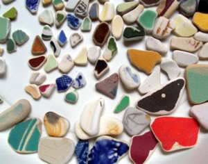 Colorful Pottery Shards - Mixed Locations