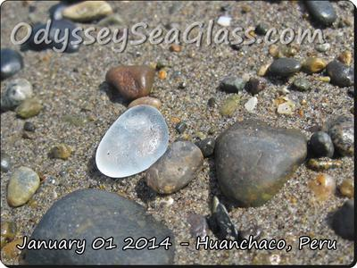Blue hints to this sea glass