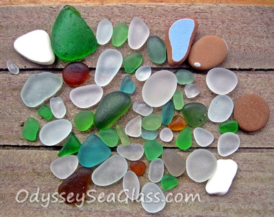 2014 - 07 - 11 - Huanchaco Beach, Sea Glass finds
