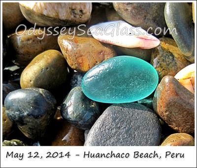 Blue baby sea glass