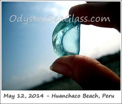 Here, it's unusual to find hunky sea glass, but this piece and others we found likely have been buried a long time