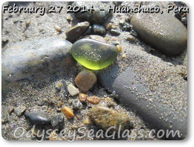 forest green sea glass