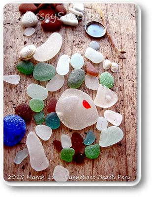 Here's an unusual pale green, well-tumbled shard of sea glass