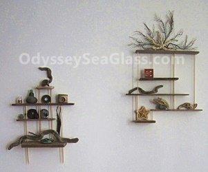 DIY Driftwood Display Shelves