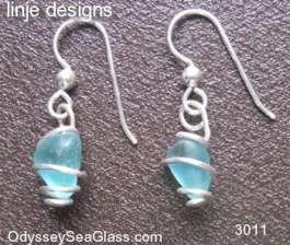 sea glass earrings Blue Sea Glass Earrings