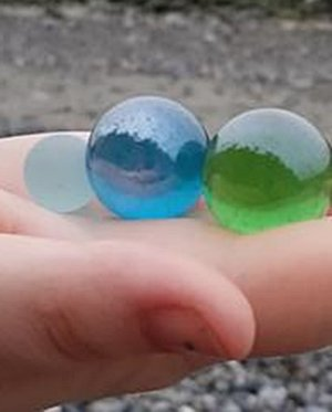 Beautiful large marbles.