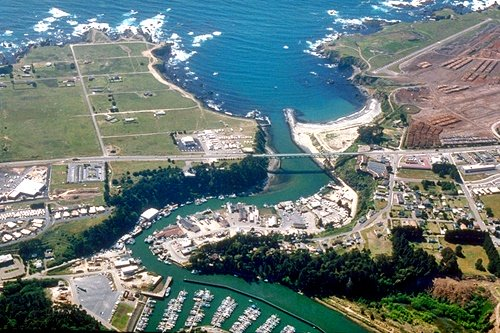 Fort Bragg California Noyo River Aerial View