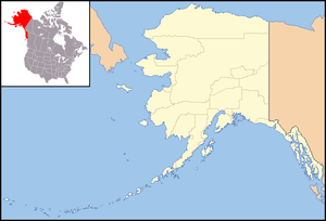 Sea Glass Pacific - Map of Alaska relative to North American Continent