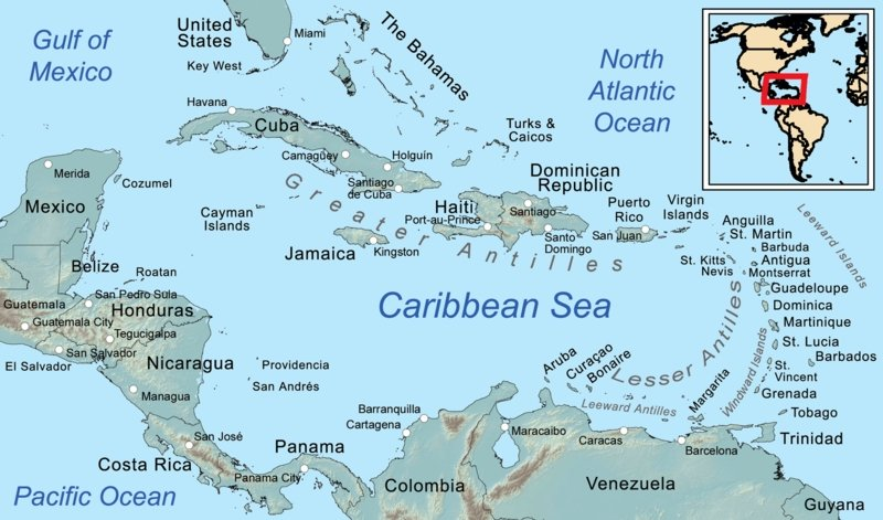 Caribbean - Greater and Lesser Antilles