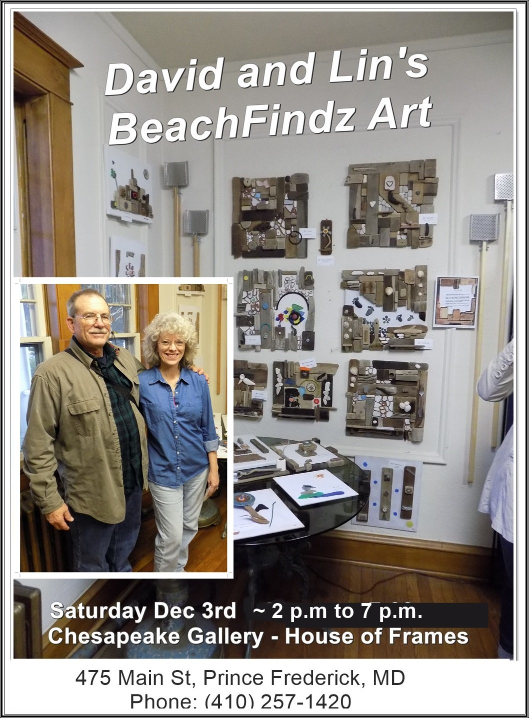 BeachFindz Art Show David and Lin