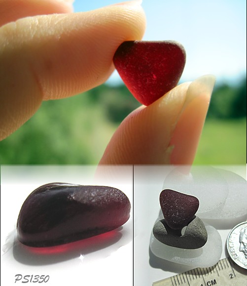 Red Sea Glass - Almost a Heart