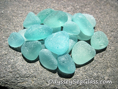 Turquoise Jewelry-Grade Sea Glass