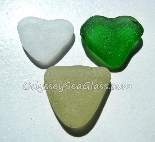 Mixed Hearts Sea Glass