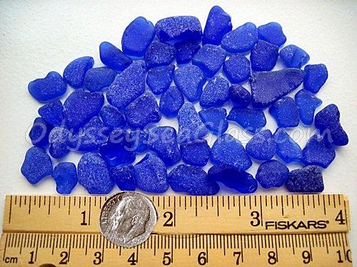 Cobalt cornflower blue craft sea glass